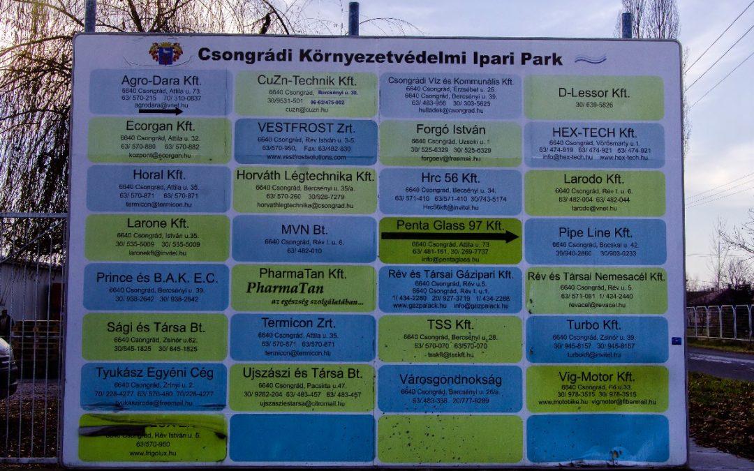 Csongrádi Ipari Park fejlesztése